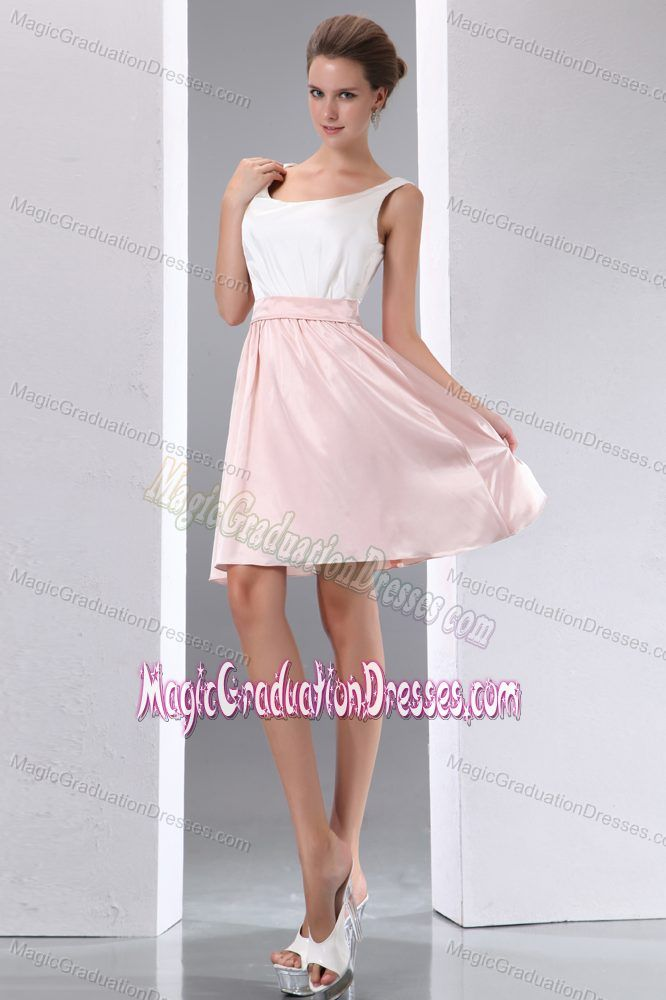 c5aad4de569 Scoop White and Pink Mini-length Junior Graduation Dresses in Waverly Hall