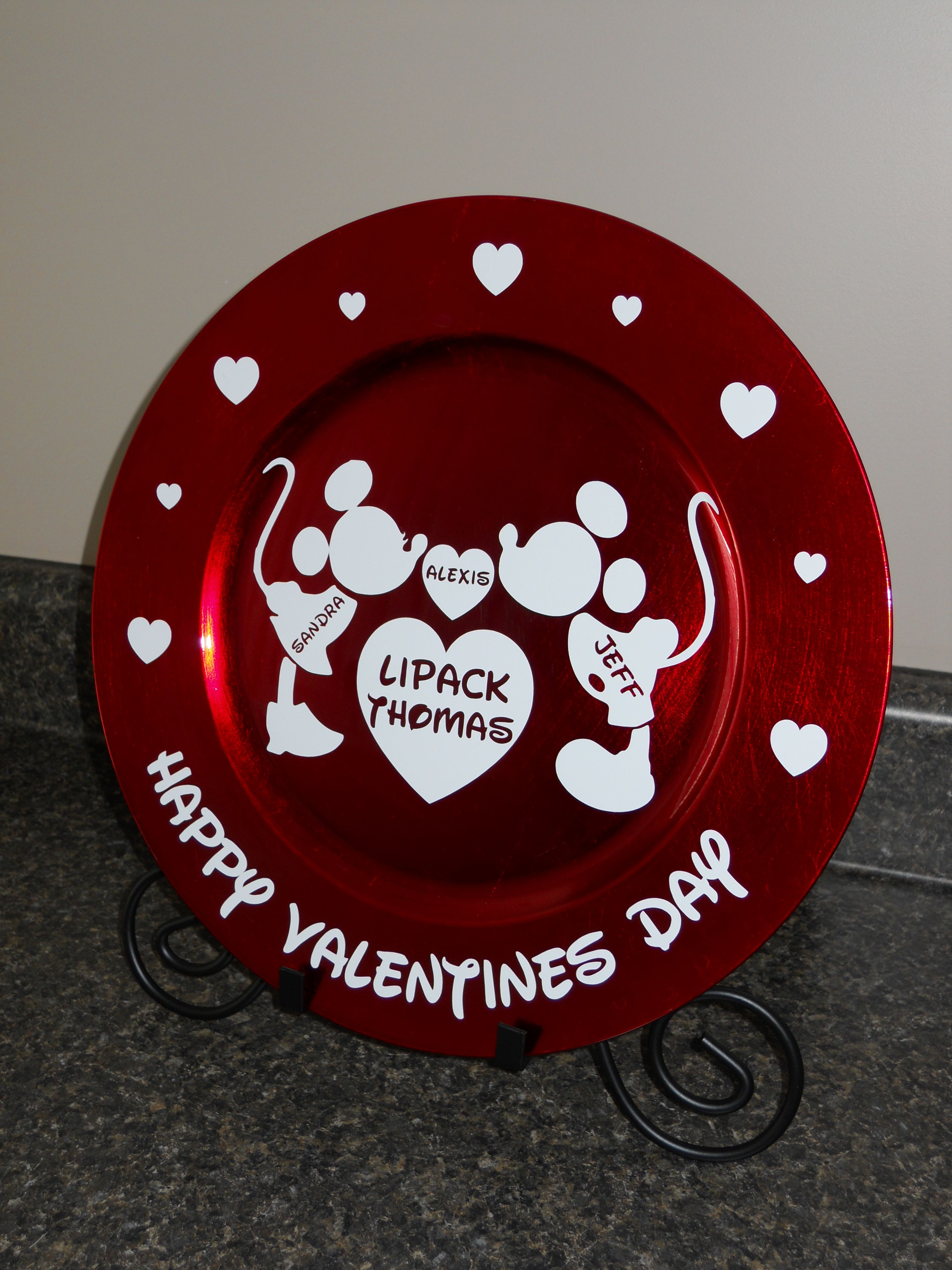 Valentines Charger Personalized Charger Plate Crafts