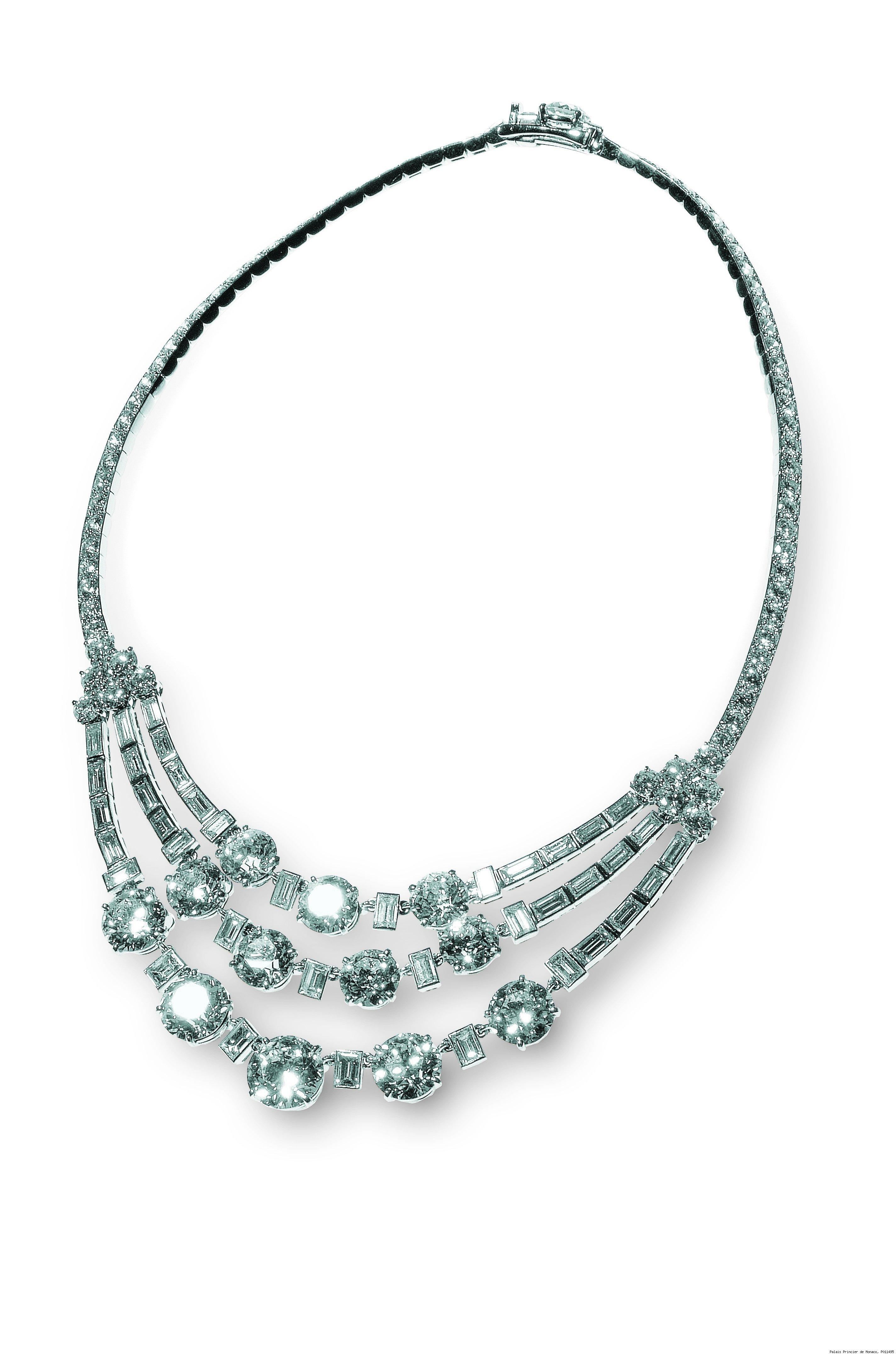 Cartier, Paris, Riviere Diamond Necklace, 1953, diamonds and platinum. H.S.H. Prince Albert II of Monaco.