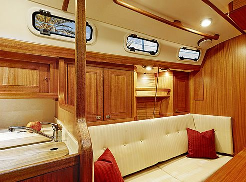 Yacht Interior Design 34ft Sailing Yacht Saloon And Pantry