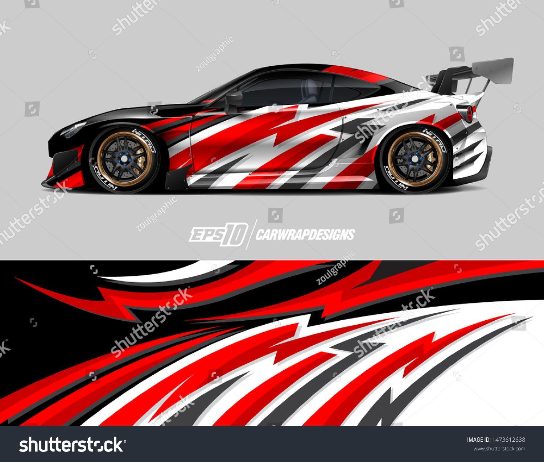 Car Wrap Decal Design Concept Abstract Stripe Background For Wrap Vehicles Race Cars Cargo Vans Pickup Trucks Racing Car Design Car Sticker Design Car Wrap [ 1275 x 1500 Pixel ]