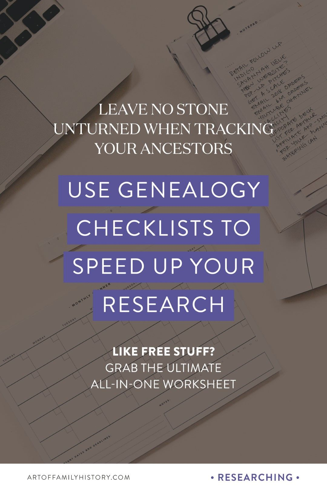 How Genealogy Checklists Will Improve Your Research