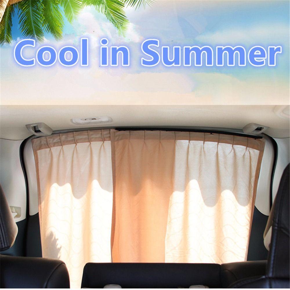 Car interior curtains - 2x Rear Window Car Sun Shade Car Styling Car Window Curtain Uv Protection Sunshade Auto Back