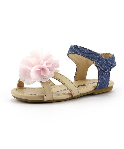 Look at this The Doll Maker Blue Denim Flower Sandal on #zulily today!