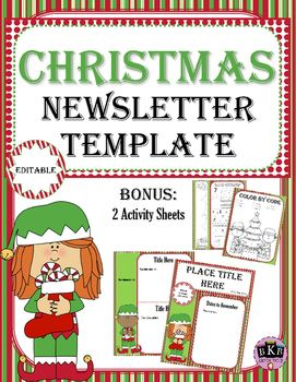Free christmas editable newsletter template this is an editable free christmas editable newsletter template this is an editable newsletter template that you can use to send out classroom information up coming events and spiritdancerdesigns Images