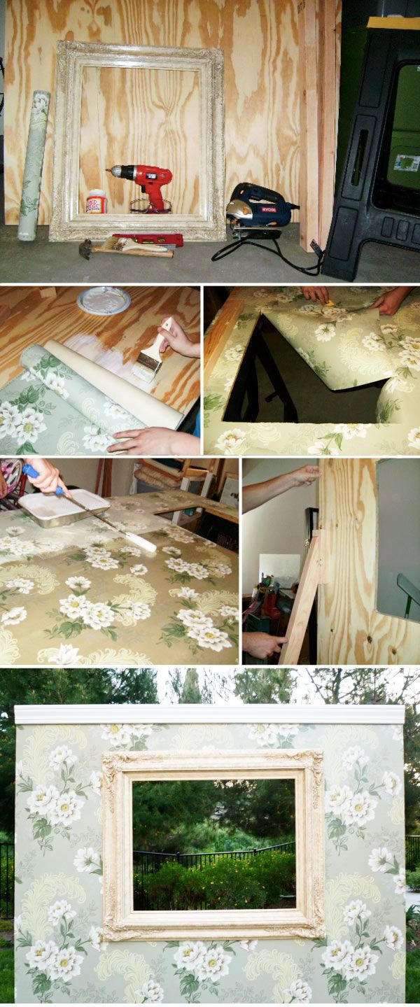 Diy Photobooth Wall Diy Wedding Photo Booth Diy Photo