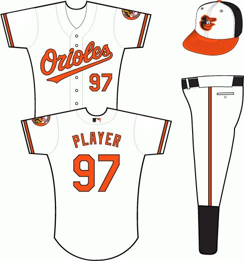 new arrival 81c33 2c703 Baltimore Orioles Home Uniform (2012-Present) | Sport ...