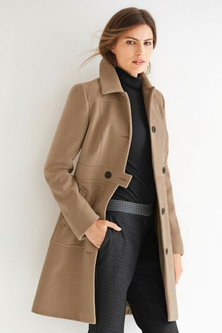 Buy Button Front Coat from the Next UK online shop | clothes ...