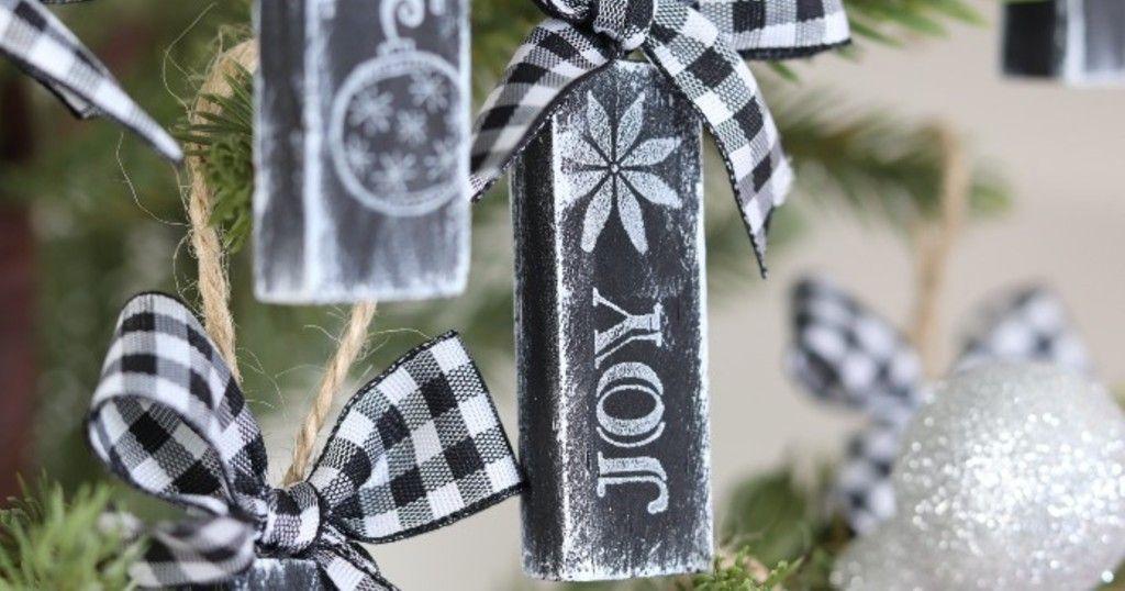 Idea to Create Christmas Tree Ornaments using Jenga Blocks | Christmas ornaments to make, Easy ...