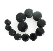 Big Gauges Kit 24 Pieces Tapers And Plugs 00G10mm 1 2 12mm 9 16 14mm 5 816mm 18mm 20mm Inch Huge Ear Stretching Black Acrylic