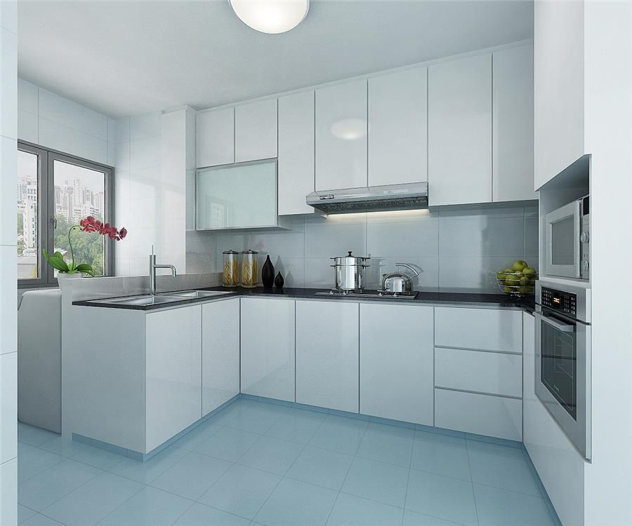 Interior Design For Kitchen For Flats: Bukit Panjang 4-rm Flat Kitchen