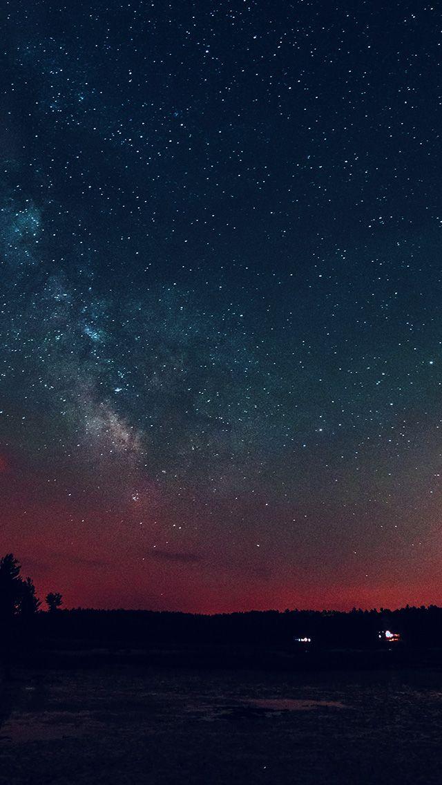 nk53nightskystarstarryromanticred Night sky stars