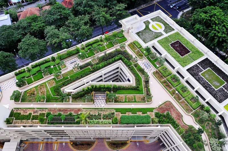 Projects Skyrise Greenery Rooftop Garden Landscape Roof Garden
