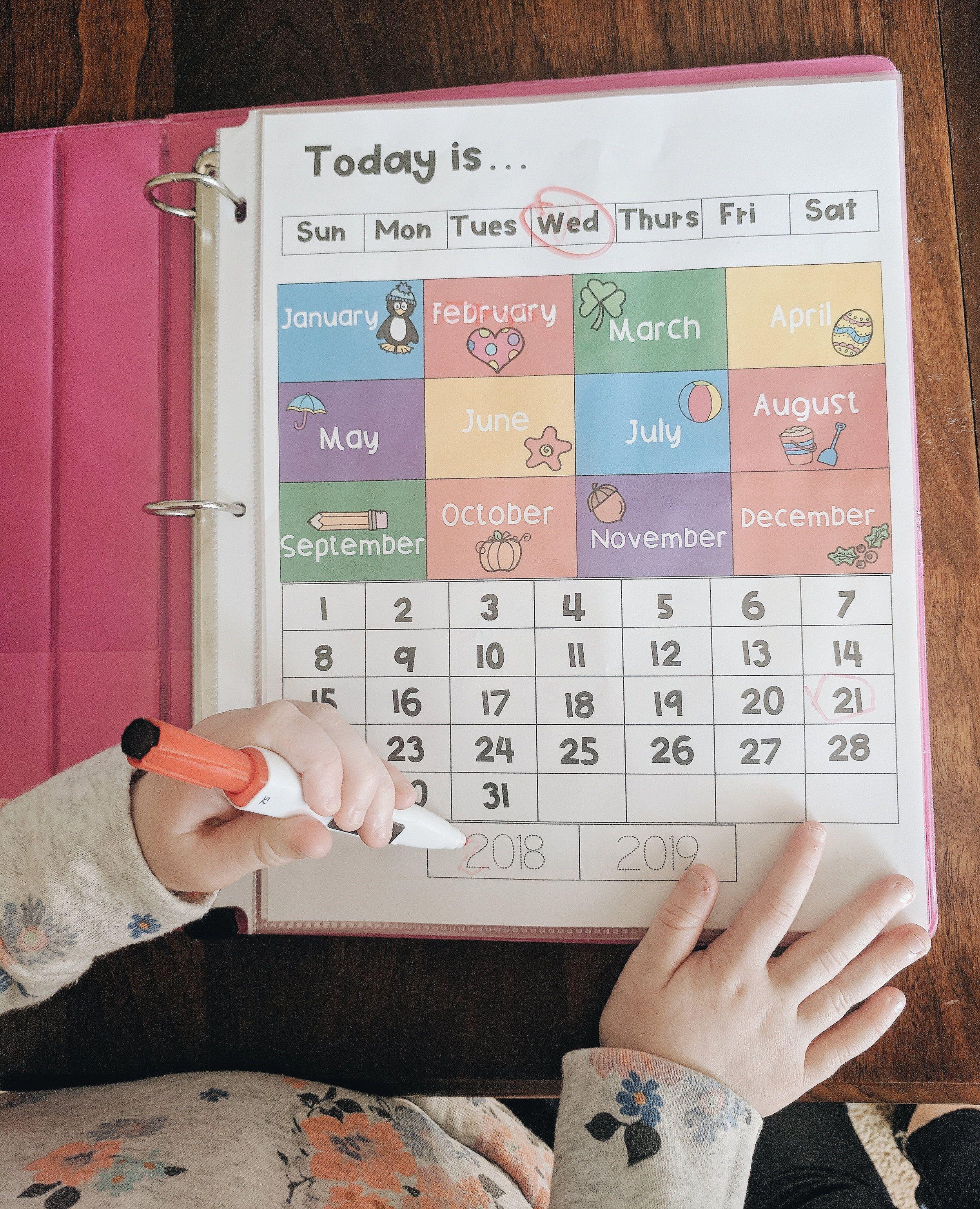 Preschool Morning Work Binder