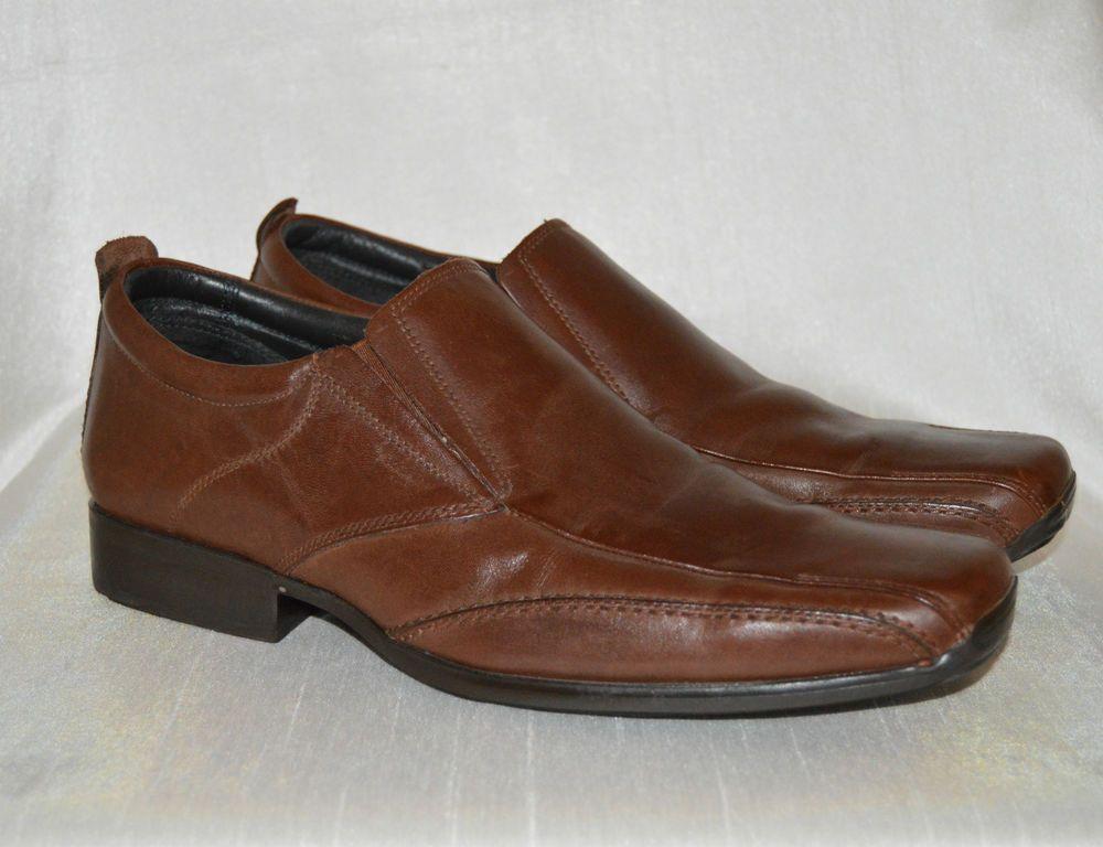 c860b341311 Zinc Size 8 Mens Italian Leather Shoes Tan Slip On VGC | Sonderlyn's ...