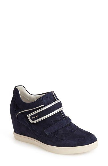 Free shipping and returns on Geox 'Eleni 11' Suede Wedge Sneaker (Women)
