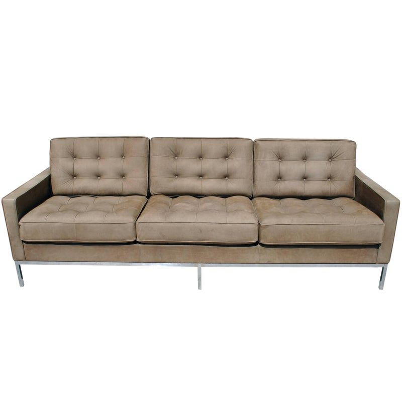 Best Florence Knoll Brown Leather Sofa Leather Sofa Modern 400 x 300