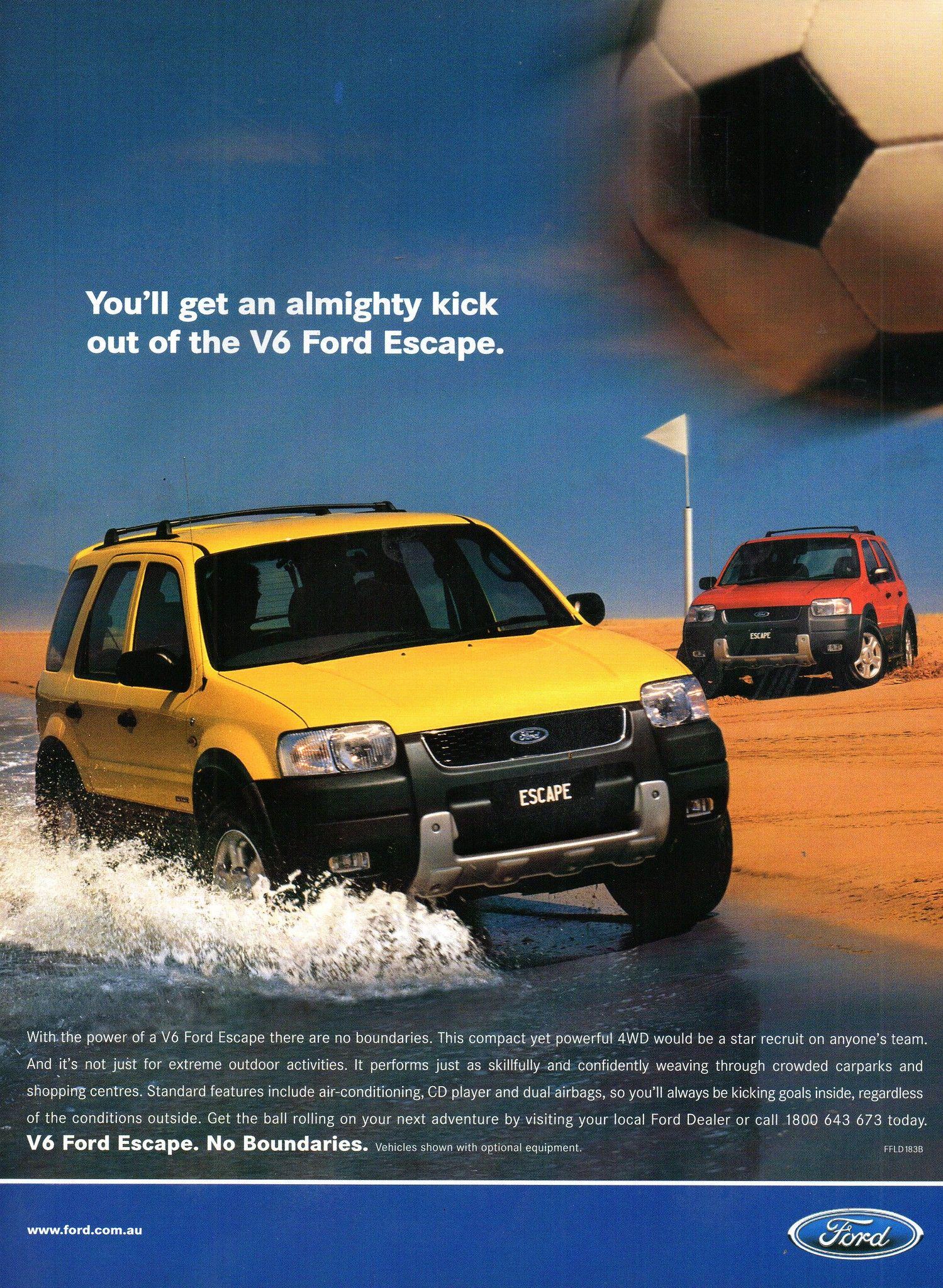 2002 Ford Escape V6 4wd Aussie Original Magazine Advertisement
