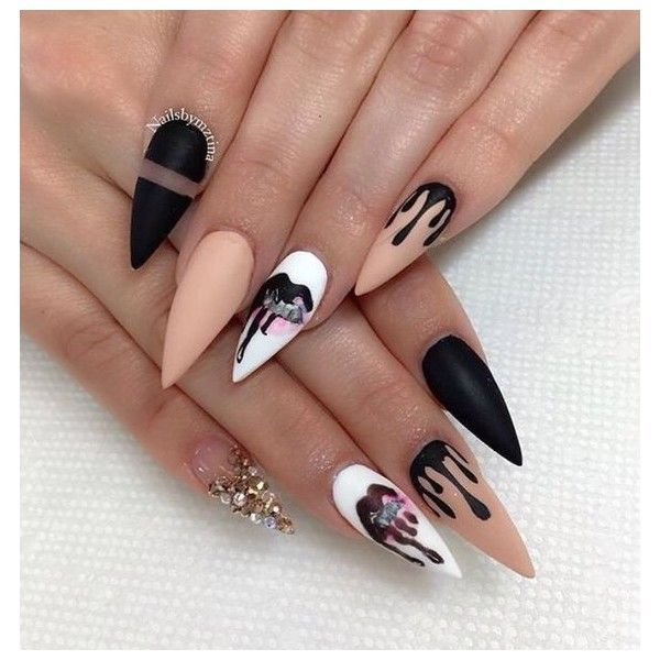 Matte Queen Nailsbymztina O Instagram Photos And Videos Liked On Polyvore Featuring Nails Beauty