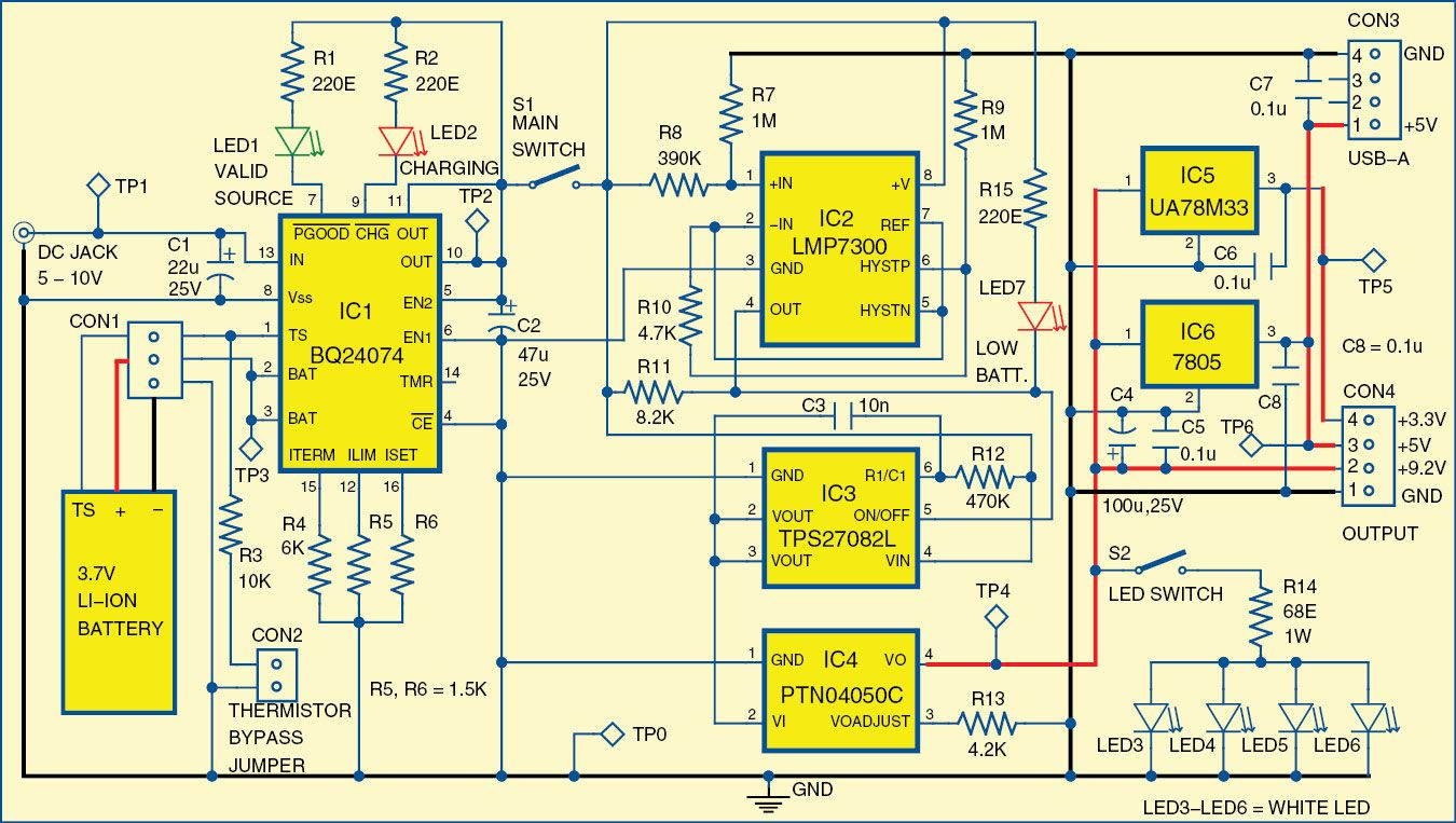 Mini Rechargeable Power Supply Electronic Projects Pinterest Rc Buffer Circuit Design In Switching Appliance Ic