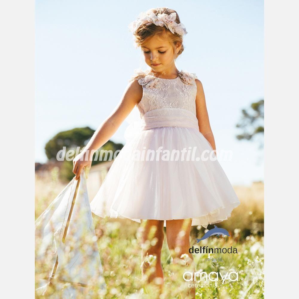 Vestido De Niña Amaya Ceremonia 2020 Modelo 513042sm Vestidos Para Niñas Ropa Ropa De Bebe Online