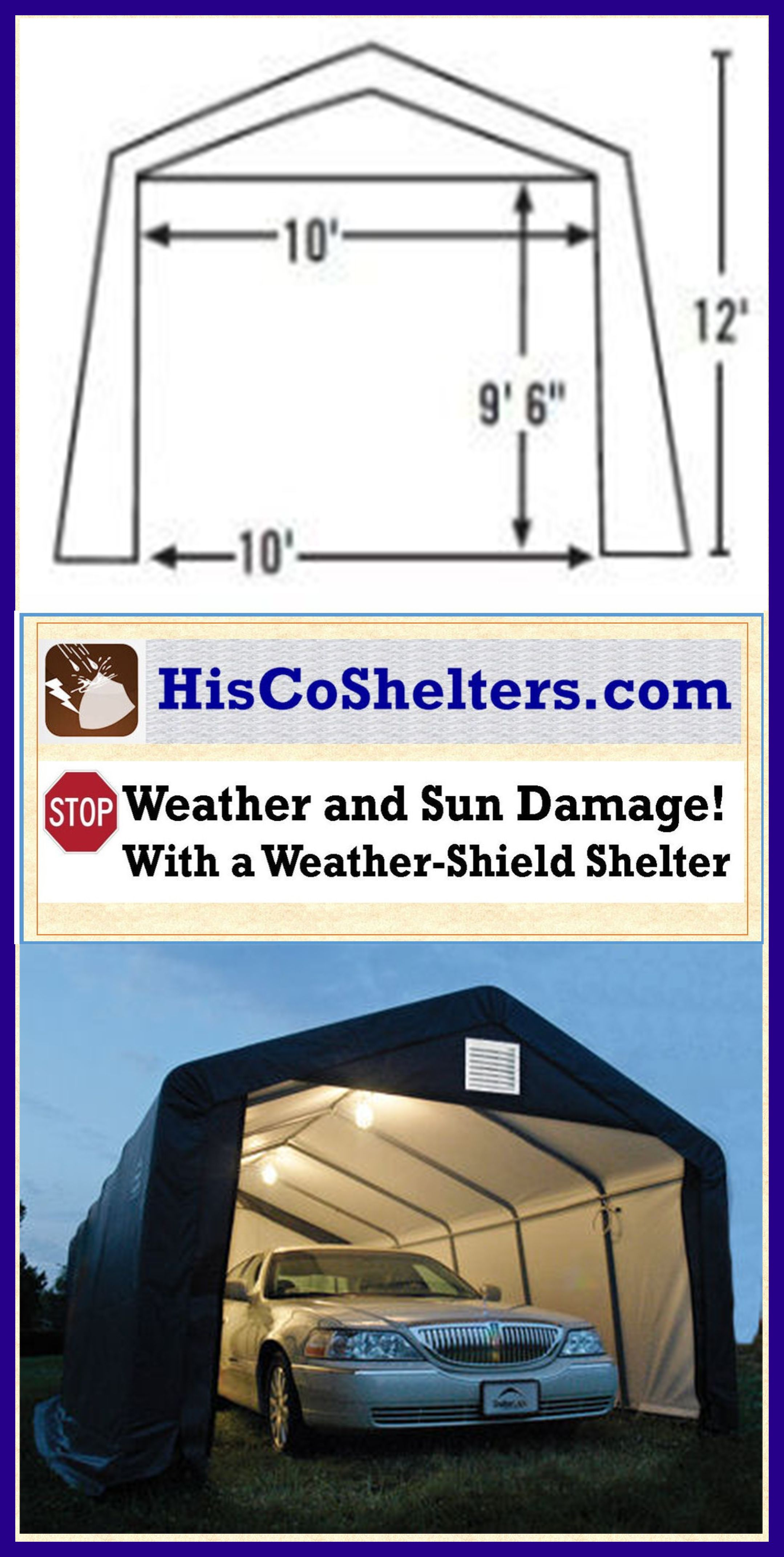 Shelter Logic Portable RV Garage Shelters. **Sizes from 13