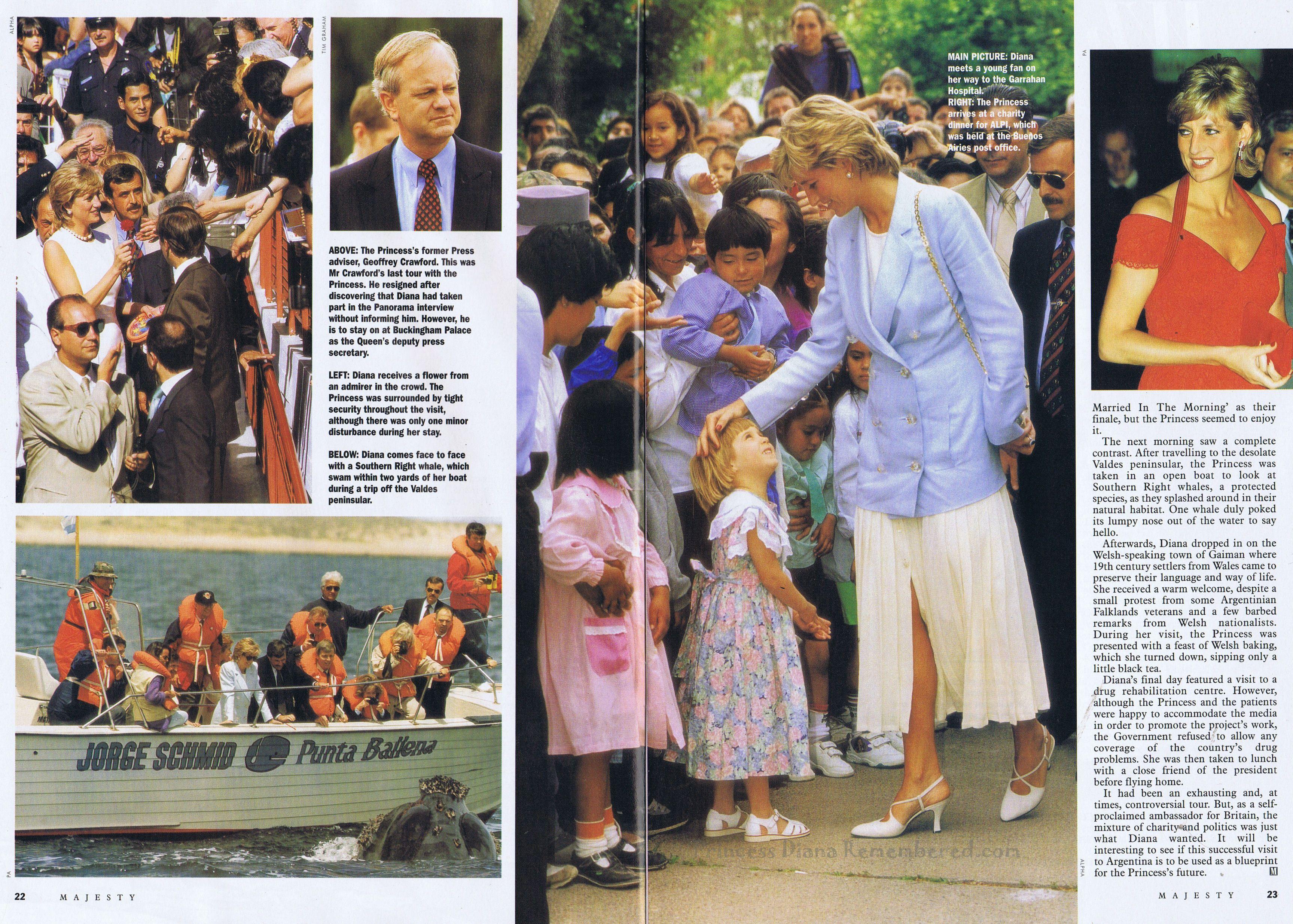 Majesty Magazine August 1996 Princess Diana