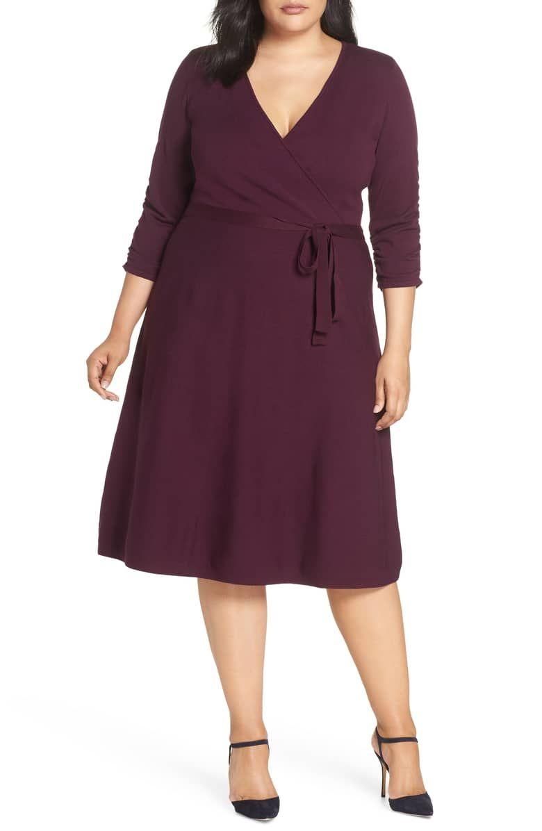 ee424a5046b Midi Faux Wrap Dress