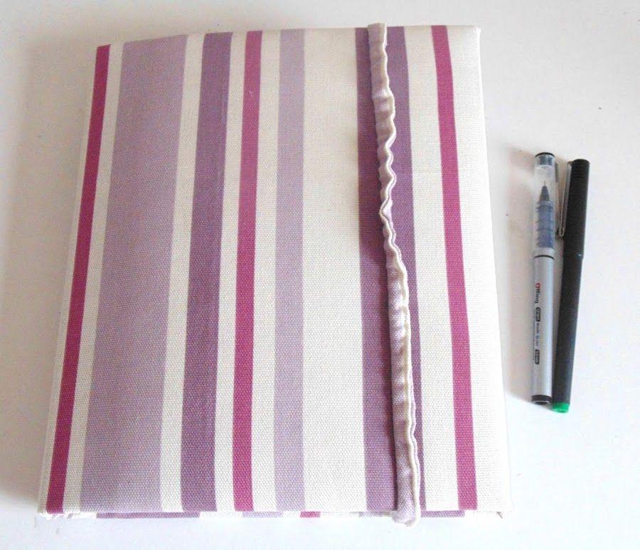 Transforma tus carpetas con tela y consigue preciosos y prácticos resultados.