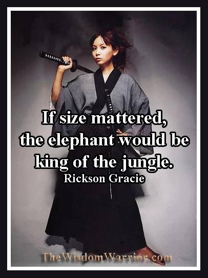 If size mattered, the elephant would be king of the jungle ...