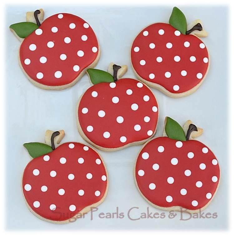 Polka-dotted apples | Cookie Connection