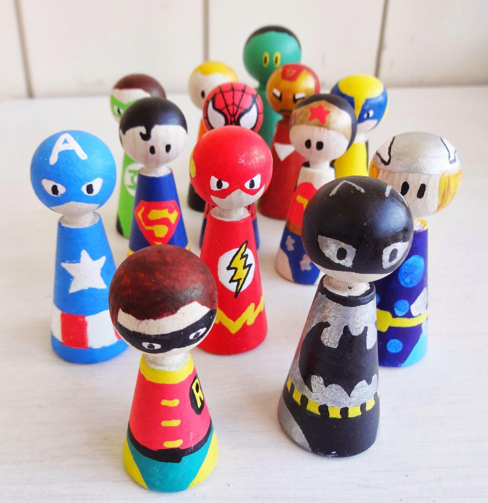 Basteln malen kuchen backen superhelden basteln mit kindern - Spielfiguren basteln ...