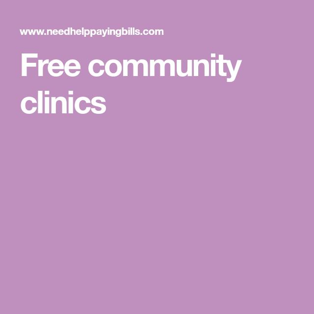 Free community clinics | Health care insurance, Health ...