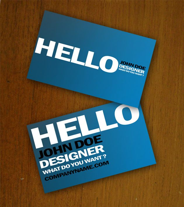 HelloBusinessCard  More At DesignresourcesIo  Free Business
