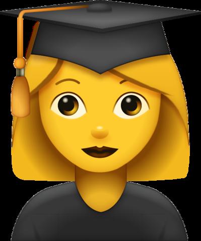 Graduated Woman Emoji   Emoji symbols, Emoji, Ios emoji