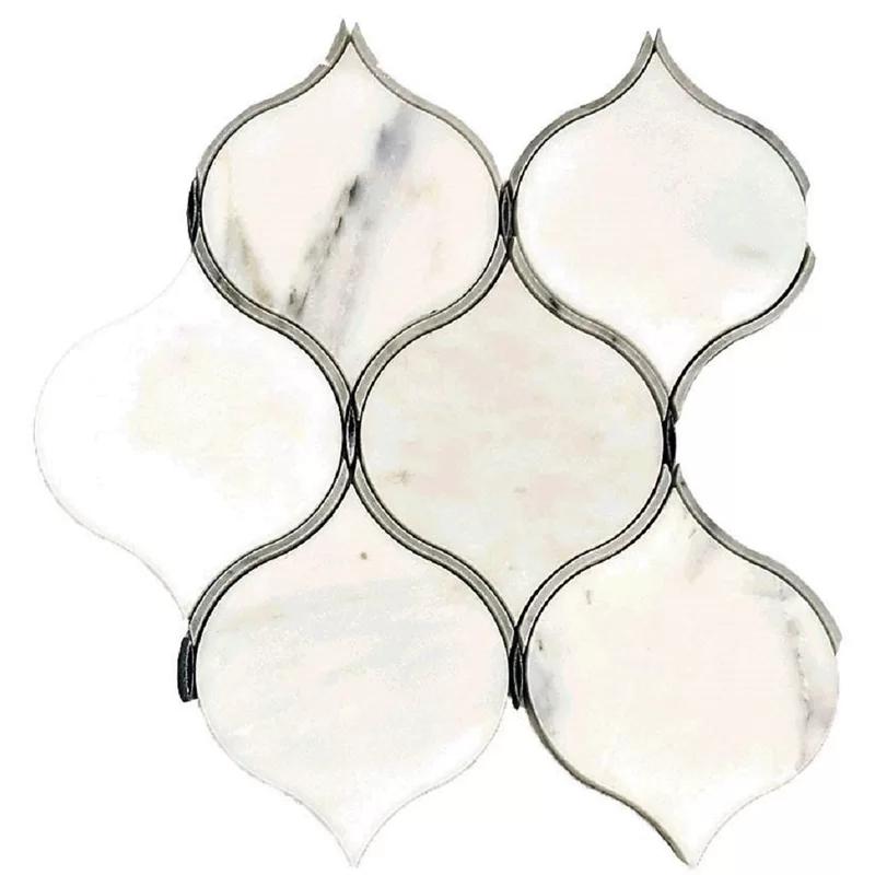 Coconut 10 X 11 Marble Mosaic Tile Porcelain Mosaic Marble Mosaic Mosaic Tiles