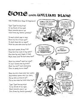 william blake explains tone a poetry comic with activities included ela secondary 7 12. Black Bedroom Furniture Sets. Home Design Ideas
