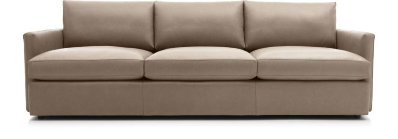 lounge ii petite leather 3 seat 105 grande sofa havenwood 2 rh pinterest com
