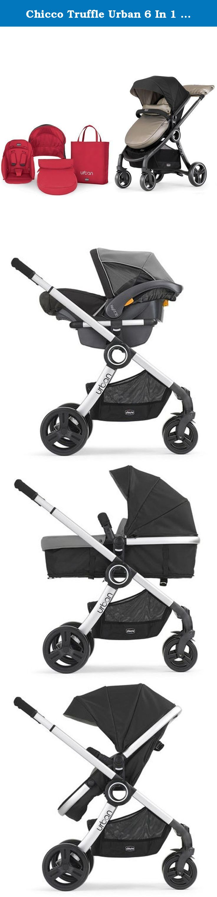 Chicco Truffle Urban 6 In 1 Modular Stroller with Red