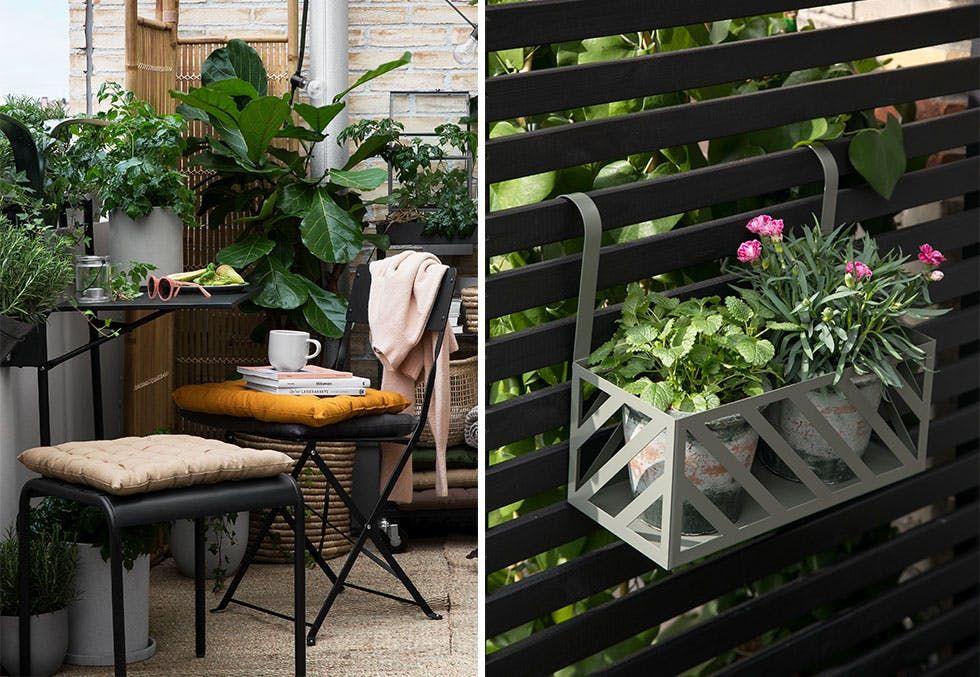 Nå er det tid for å flytte ut. Med enkle grep kan du lage forskjellige stiler ute. Vi viser deg hva vi gjorde for å lage to forskjellige stiler på en balkong i byen.