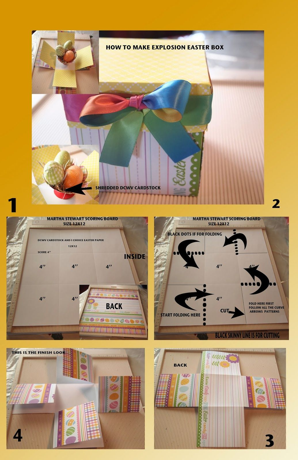 Diy crafting how to make explosion easter gift box craft bits diy crafting how to make explosion easter gift box negle Image collections