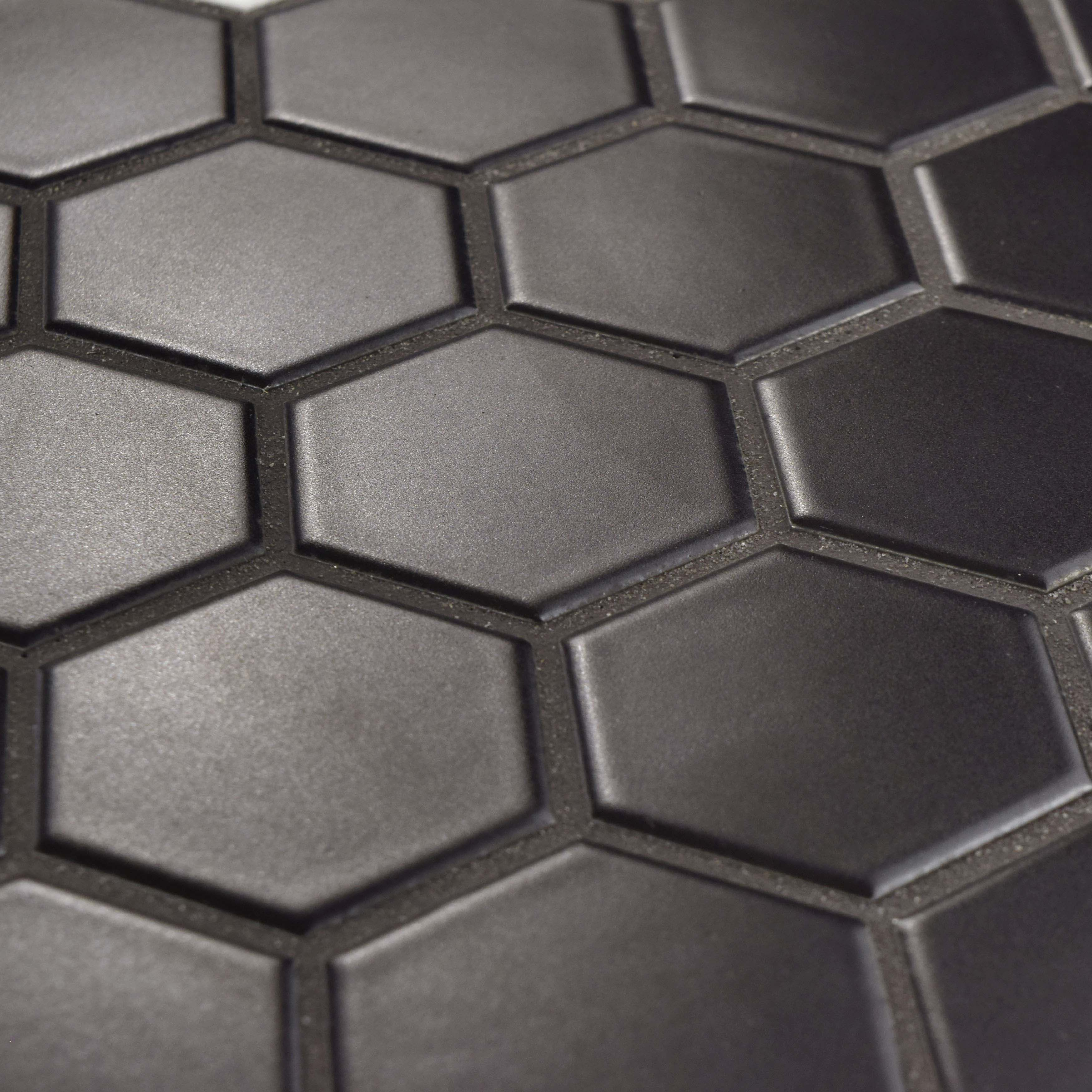 Elitetile Retro Hexagon 2 X 2 Porcelain Mosaic Tile In Matte