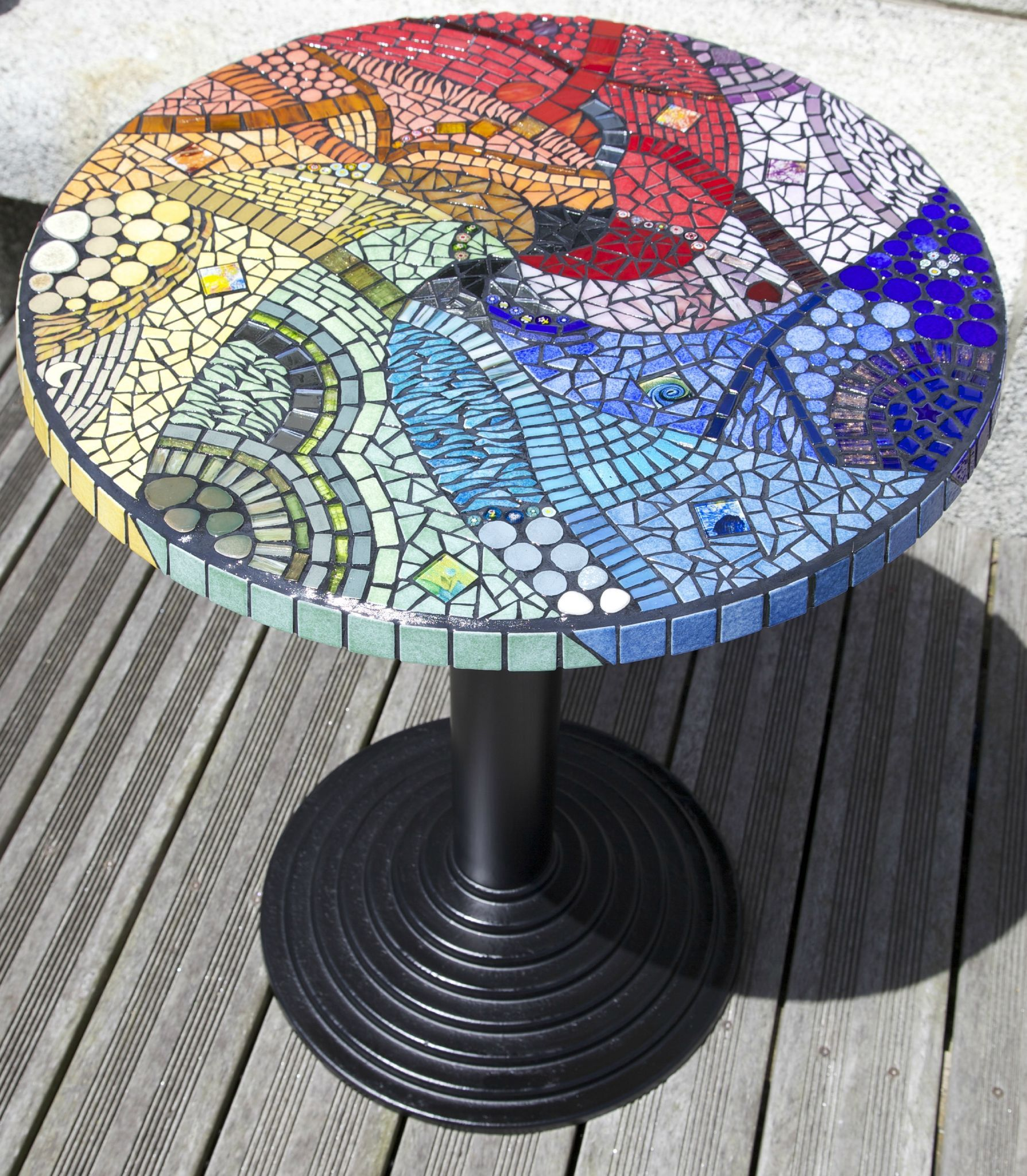 Table ronde mosaique | Projet table | Table mosaique ...