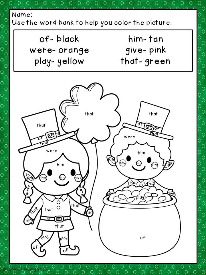 St. Patrick\'s Day Coloring Sheets | Pinterest | Kindergarten ...