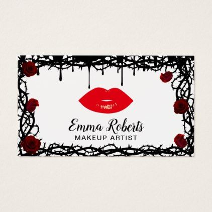 Makeup artist red lips gothic beauty salon business card red gifts makeup artist red lips gothic beauty salon business card red gifts color style cyo diy personalize unique red style pinterest reheart Choice Image