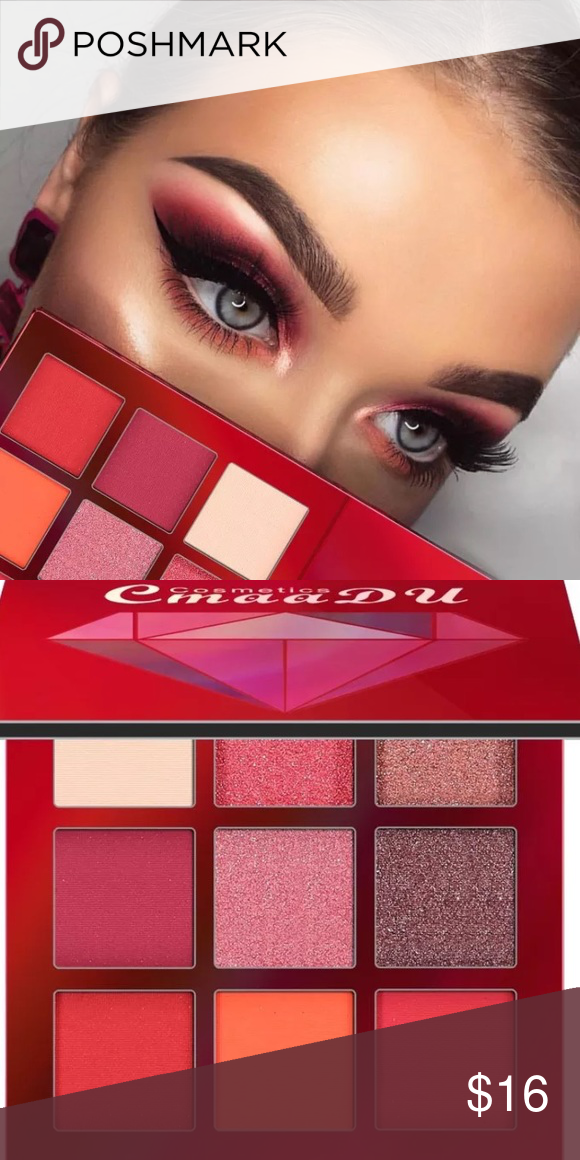 Cmaadu Matte And Shimmer Eyeshadow Palette Professional Party Makeup 9 Colors Fashion High Pigment Eye Shadow Cosmetics Women Beauty & Health Beauty Essentials