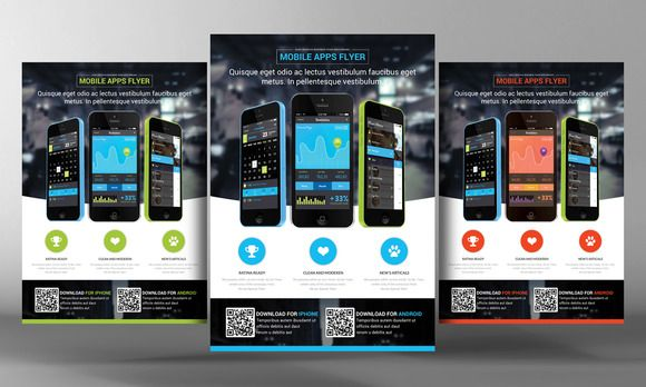 Check out Apps Flyer Template by Corporate Flyers Postcard on - technology brochure template