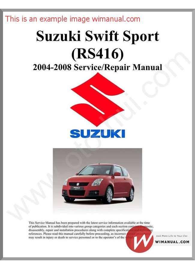 Suzuki Swift Repair Manual Pdf