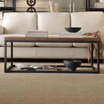 Homevance HomeVance Brynn Industrial Rustic Coffee Table ...