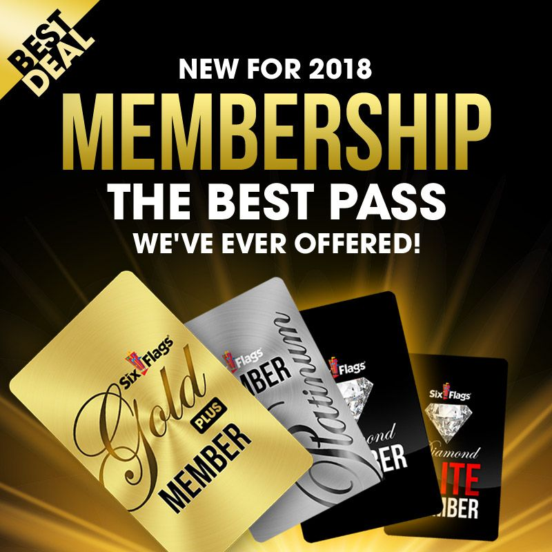 The Six Flags Membership Program Features The Greatest Value The Best Benefits And The Most Unique Experiences We Ve Ever Six Flags Memberships Great America